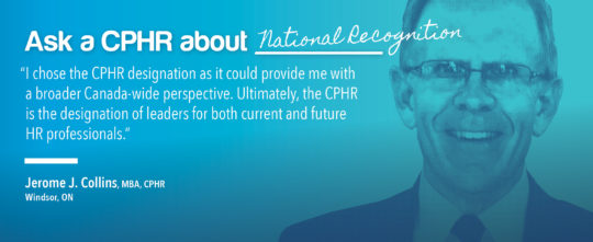 Ask a CPHR - Jerome J. Collins